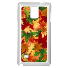 Autumn Leaves Samsung Galaxy Note 4 Case (white)