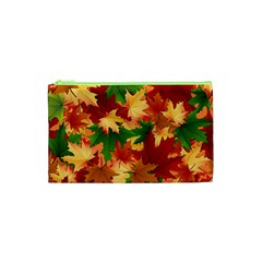 Autumn Leaves Cosmetic Bag (xs) by BangZart