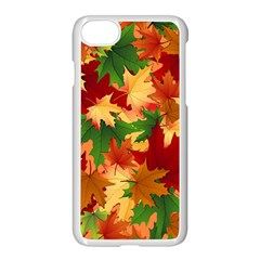 Autumn Leaves Apple Iphone 7 Seamless Case (white) by BangZart