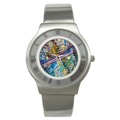 Circuit Computer Stainless Steel Watch by BangZart