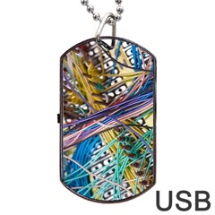 Circuit Computer Dog Tag Usb Flash (one Side) by BangZart