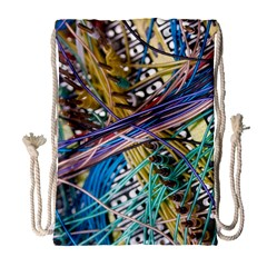 Circuit Computer Drawstring Bag (large) by BangZart