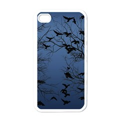 Crow Flock  Apple Iphone 4 Case (white) by Valentinaart