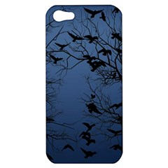 Crow Flock  Apple Iphone 5 Hardshell Case by Valentinaart
