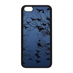 Crow Flock  Apple Iphone 5c Seamless Case (black) by Valentinaart