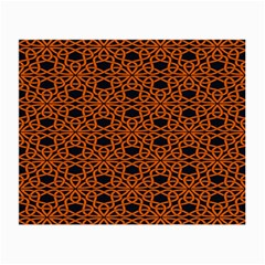 Triangle Knot Orange And Black Fabric Small Glasses Cloth (2 Side) by BangZart