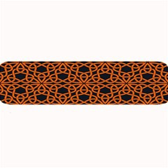 Triangle Knot Orange And Black Fabric Large Bar Mats
