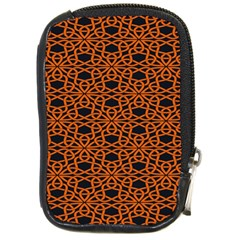 Triangle Knot Orange And Black Fabric Compact Camera Cases by BangZart