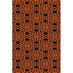Triangle Knot Orange And Black Fabric 5 5  X 8 5  Notebooks