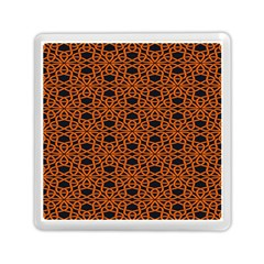 Triangle Knot Orange And Black Fabric Memory Card Reader (square)