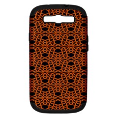 Triangle Knot Orange And Black Fabric Samsung Galaxy S Iii Hardshell Case (pc+silicone) by BangZart