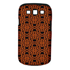Triangle Knot Orange And Black Fabric Samsung Galaxy S Iii Classic Hardshell Case (pc+silicone)