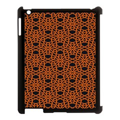 Triangle Knot Orange And Black Fabric Apple Ipad 3/4 Case (black) by BangZart