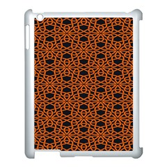 Triangle Knot Orange And Black Fabric Apple Ipad 3/4 Case (white)