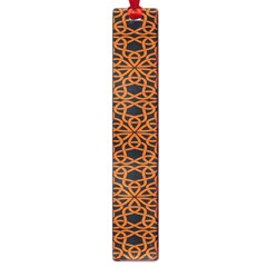 Triangle Knot Orange And Black Fabric Large Book Marks by BangZart