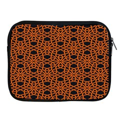 Triangle Knot Orange And Black Fabric Apple Ipad 2/3/4 Zipper Cases