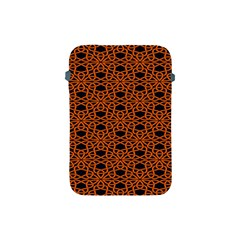 Triangle Knot Orange And Black Fabric Apple Ipad Mini Protective Soft Cases by BangZart