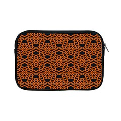 Triangle Knot Orange And Black Fabric Apple Ipad Mini Zipper Cases by BangZart