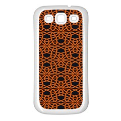Triangle Knot Orange And Black Fabric Samsung Galaxy S3 Back Case (white)