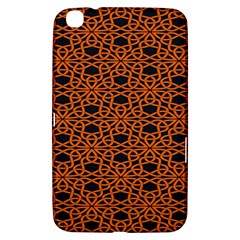 Triangle Knot Orange And Black Fabric Samsung Galaxy Tab 3 (8 ) T3100 Hardshell Case  by BangZart
