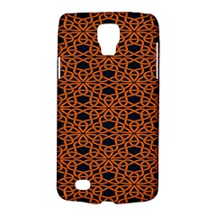 Triangle Knot Orange And Black Fabric Galaxy S4 Active by BangZart