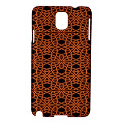 Triangle Knot Orange And Black Fabric Samsung Galaxy Note 3 N9005 Hardshell Case