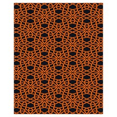 Triangle Knot Orange And Black Fabric Drawstring Bag (small) by BangZart
