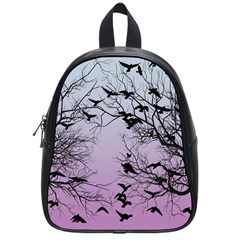 Crow Flock  School Bags (small)  by Valentinaart