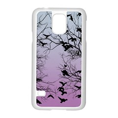 Crow Flock  Samsung Galaxy S5 Case (white) by Valentinaart
