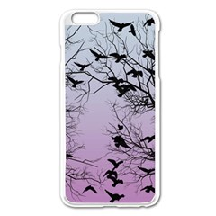 Crow Flock  Apple Iphone 6 Plus/6s Plus Enamel White Case by Valentinaart