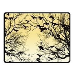 Crow Flock  Fleece Blanket (small) by Valentinaart