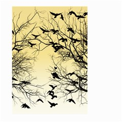 Crow Flock  Large Garden Flag (two Sides) by Valentinaart
