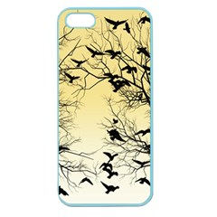 Crow Flock  Apple Seamless Iphone 5 Case (color) by Valentinaart
