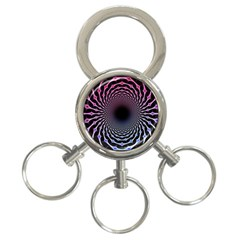 Spider Web 3 Ring Key Chains
