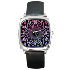 Spider Web Square Metal Watch by BangZart