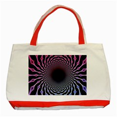 Spider Web Classic Tote Bag (red)