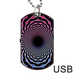 Spider Web Dog Tag Usb Flash (one Side)
