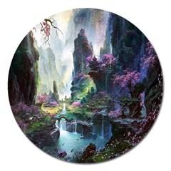 Fantastic World Fantasy Painting Magnet 5  (round) by BangZart