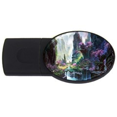 Fantastic World Fantasy Painting Usb Flash Drive Oval (4 Gb)