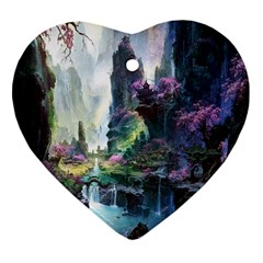 Fantastic World Fantasy Painting Heart Ornament (two Sides) by BangZart