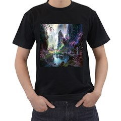 Fantastic World Fantasy Painting Men s T Shirt (black)