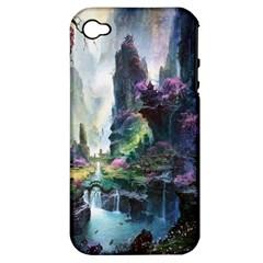 Fantastic World Fantasy Painting Apple Iphone 4/4s Hardshell Case (pc+silicone) by BangZart