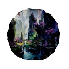 Fantastic World Fantasy Painting Standard 15  Premium Round Cushions by BangZart