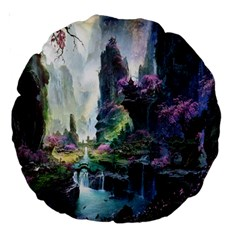 Fantastic World Fantasy Painting Large 18  Premium Round Cushions by BangZart
