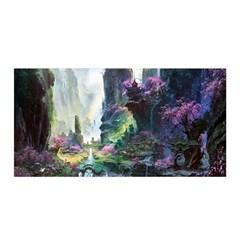 Fantastic World Fantasy Painting Satin Wrap