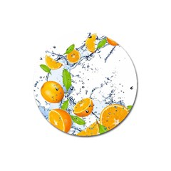 Fruits Water Vegetables Food Magnet 3  (round)
