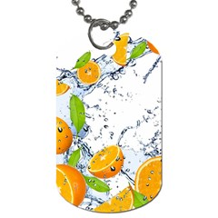 Fruits Water Vegetables Food Dog Tag (two Sides) by BangZart