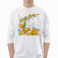 Fruits Water Vegetables Food White Long Sleeve T Shirts