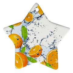 Fruits Water Vegetables Food Star Ornament (two Sides)