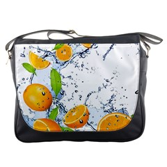 Fruits Water Vegetables Food Messenger Bags by BangZart